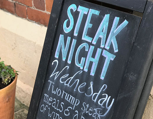 Steak night at the Haresfield Beacon
